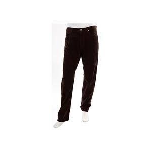 Photo of One True Saxon Cords - Long Leg Brown Trousers Man
