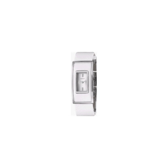 DKNY Ladies Watch With White Leather Strap NY4307