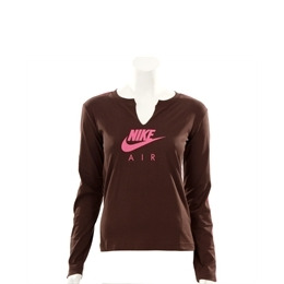Nike Active Chocolate Long Sleeved Logo T-shirt Reviews