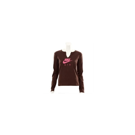 Nike Active Chocolate Long Sleeved Logo T-shirt