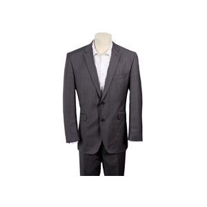 Photo of Gibson Grey Stripe Single Breasted Wool Suit Shirt