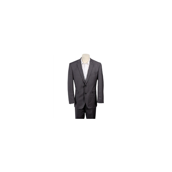 Gibson Grey Stripe Single Breasted Wool Suit