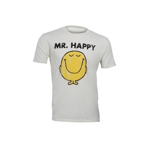 "Photo of Junk Food "" MR Happy"" T-Shirt - White T Shirts Man"