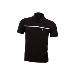 Photo of Penguin Polo With Single Chest Stripe - Black T Shirts Man