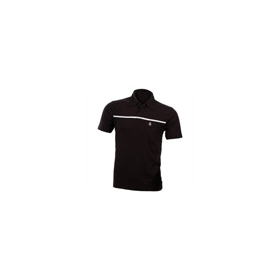 Penguin Polo with Single Chest Stripe - Black