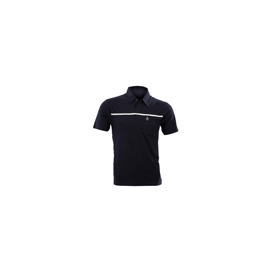 Navy Penguin Polo Shirt with Single Stripe