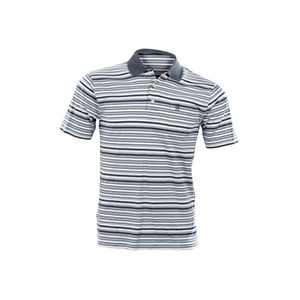 Photo of Penguin Stripey Jersey Polo - Blue T Shirts Man