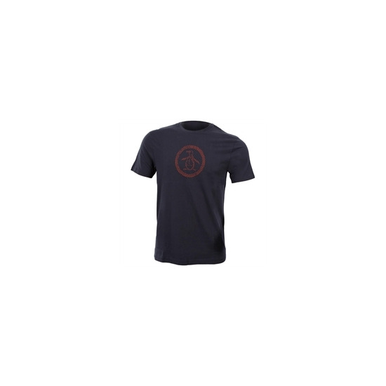 Penguin Version of Circle Logo Tee - Navy