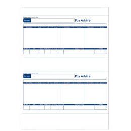 Sage Compatible 1 Part Payslip For inkjet/laser printers 500 per box (250 A4 sheets) (SE95s) Reviews