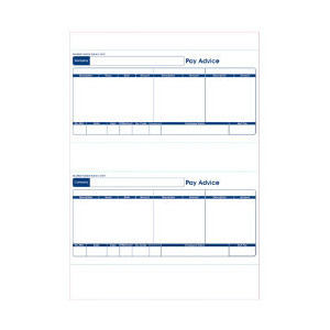 Photo of Sage Compatible 1 Part Payslip For INKJET/Laser Printers 500 Per Box (250 A4 Sheets) (SE95s) Printer Accessory