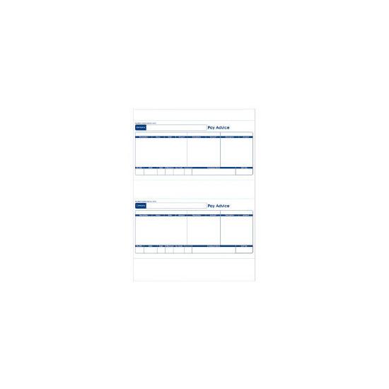 Sage Compatible 1 Part Payslip For inkjet/laser printers 500 per box (250 A4 sheets) (SE95s)