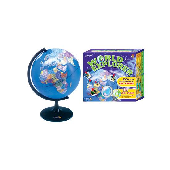 World Explorer 28cm Geographical Globe