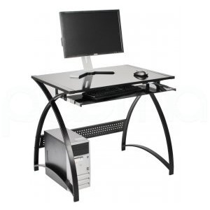 Photo of Alphason Tulsa Glass Workstation Computer Desk