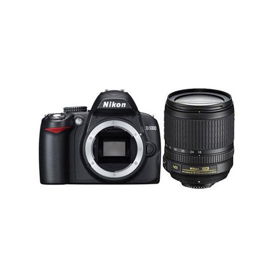 Nikon D3000 with 18-105mm VR Lens