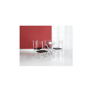 Photo of Anton Glass Dining Table & 4 Chair Set Furniture