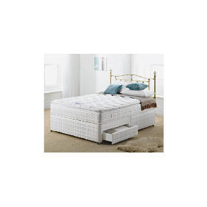Photo of Silentnight Miracoil 3-Zone Pillowtop Hawaii Double 2 Drawer Divan Set Bedding