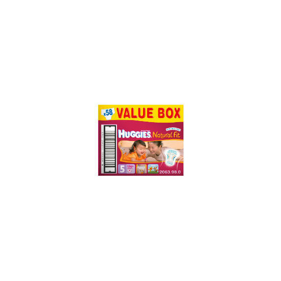 Huggies Natural Fit Size 4 Value Box (x64)
