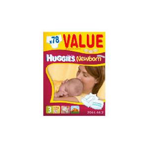 Photo of Huggies Newborn Size 3 Value Box (X78) Baby Product