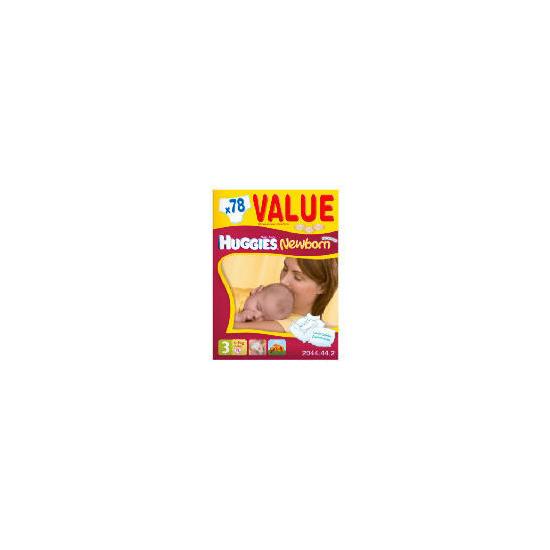 Huggies Newborn Size 3 Value Box (x78)