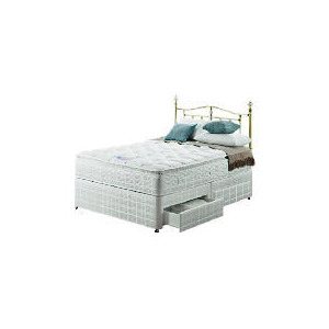 Photo of Silentnight Miracoil 3-Zone Pillowtop Hawaii Double 4 Drawer Divan Set Bedding