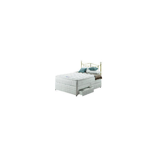 Silentnight Miracoil 3-Zone Pillowtop Hawaii Double 4 Drawer Divan set