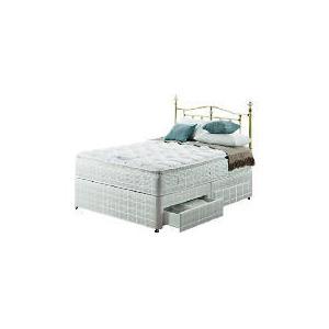 Photo of Silentnight Miracoil 3-Zone Pillowtop Hawaii King 4 Drawer Divan Set Bedding