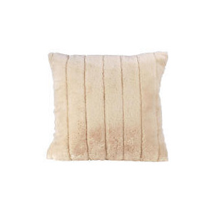Photo of Tesco Ribbed Faux Fur Cushion, Ivory Cushions and Throw