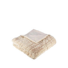 Tesco Ribbed Faux Fur Throw - Ivory Reviews