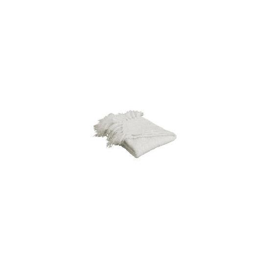 Tesco Boucle Throw 125x150cm, Natural