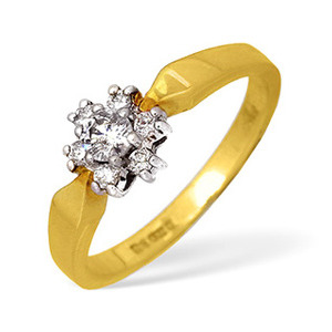 Photo of 18KY Diamond Cluster Ring 0.27CT Jewellery Woman