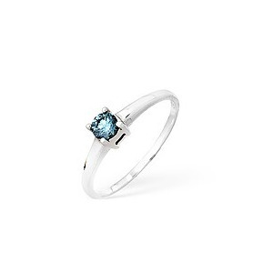 Photo of 9KW Blue Diamond Single Stone Ring 0.25CT Jewellery Woman