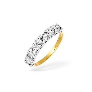 Photo of 9KY Diamond Half Eternity Ring 0.75CT Jewellery Woman