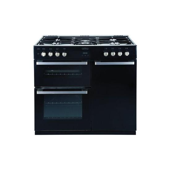 Belling 90cm Dual Fuel Range Cooker - Black