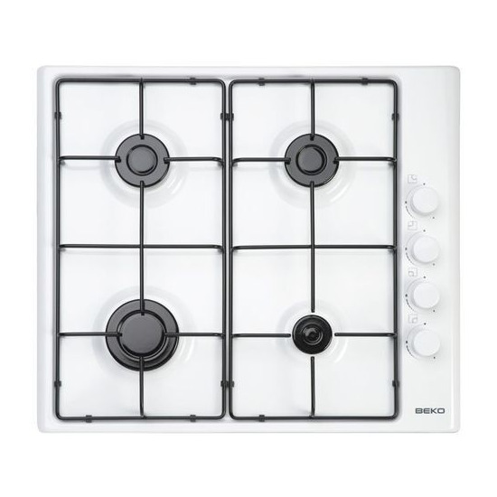 Beko 60cm Gas Hob White with FSD