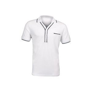 Photo of Peter Werth White Tipped Polo - White & BALCK T Shirts Man