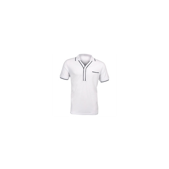 Peter Werth White Tipped Polo - White & Balck