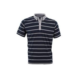 Photo of Peter Werth Navy Stripe Polo T Shirts Man