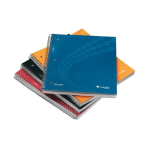 Photo of A4 Single Subject Lined Notebooks 4 Pack Stationery