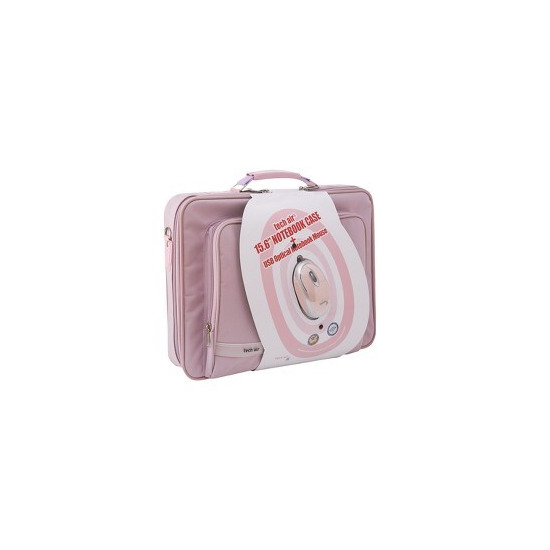 Tech Air bundle 15.6 inch pink carry case with pink usb mouse