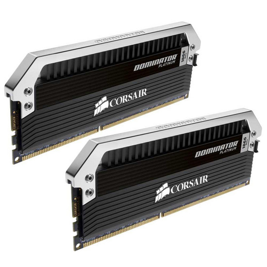 CORSAIR 2 X 8 GB DDR3-1866 PC3-15000 CL9 Dominator Platinum PC Memory Modules (CMD16GX3M2A1866C9)