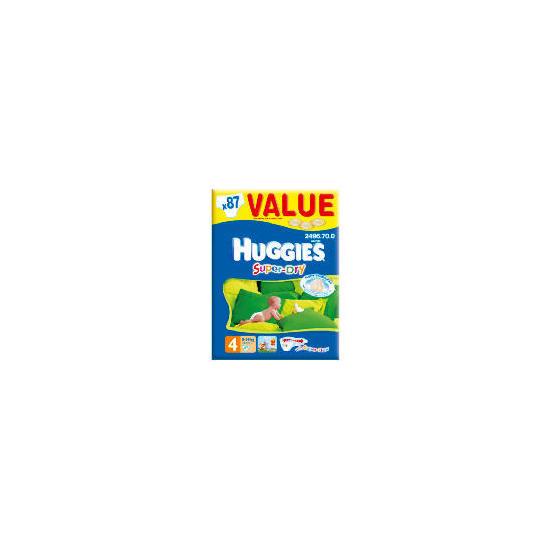 Huggies Super-Dry Value Box Sz 4 (x87)