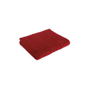 Photo of Tesco Soft Bath Sheet, Red Towel