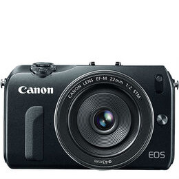 Canon EOS M + EF-M 18-55 Compact System Camera - Silver Reviews