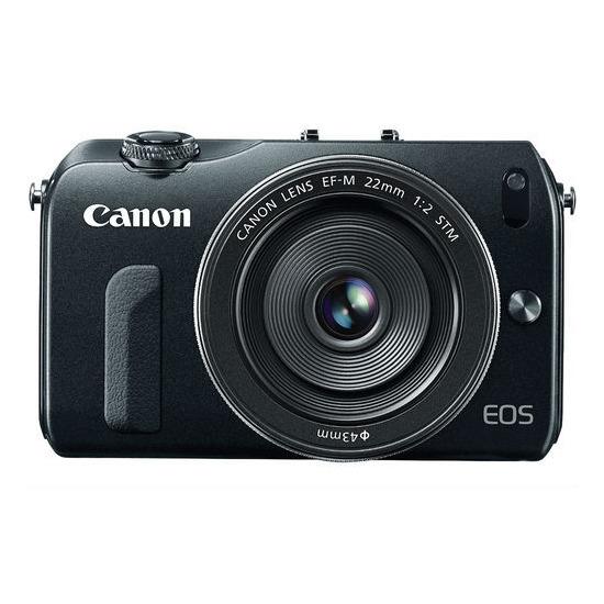 Canon EOS M + EF-M 18-55 Compact System Camera - Silver
