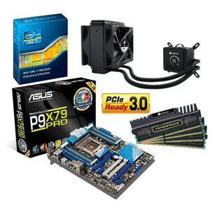 Photo of Intel Super Power Bundle With Asus P9X79 PRO Motherboard Intel I7 3930K Processor Corsair Vengeance Black 16GB Memory and Corsair H80 Cooler Computer Peripheral