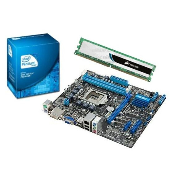 Intel Value Bundle with Asus P8H61-MX SI Motherboard Intel Pentium G620 CPU and 2GB DDR3