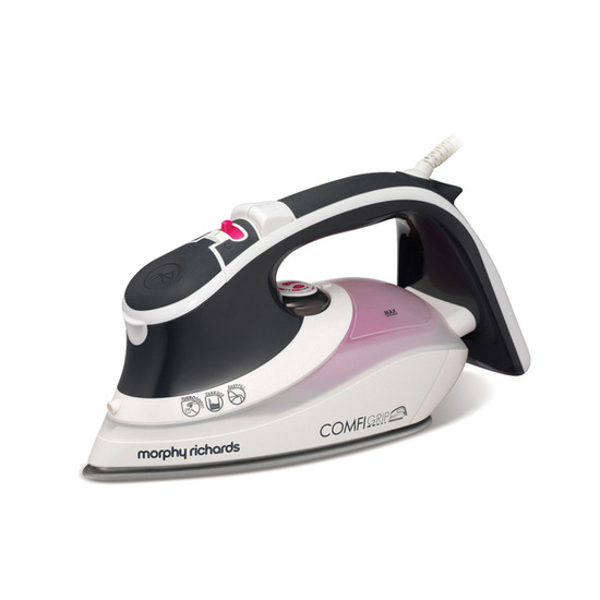 Morphy Richards Comfigrip 40870 Steam Iron - Charcoal & Pink