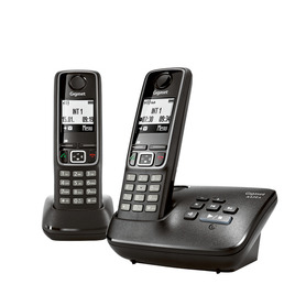 GIGASET A420A Cordless Phone with Answering Machine - Twin Handsets