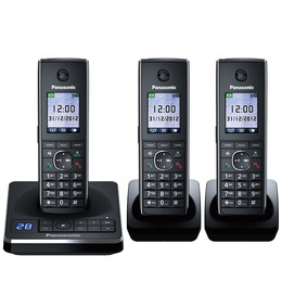 Panasonic KX-TG8563EB Cordless Phone with Answering Machine - Triple Handsets Reviews