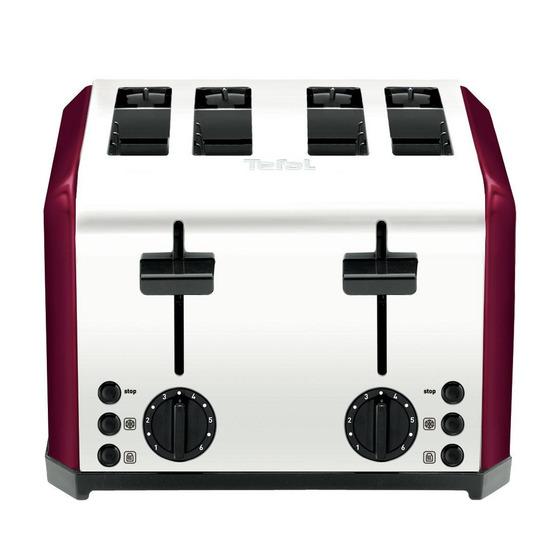 Tefal TT543715 4-Slice Toaster - Fuchsia Blush